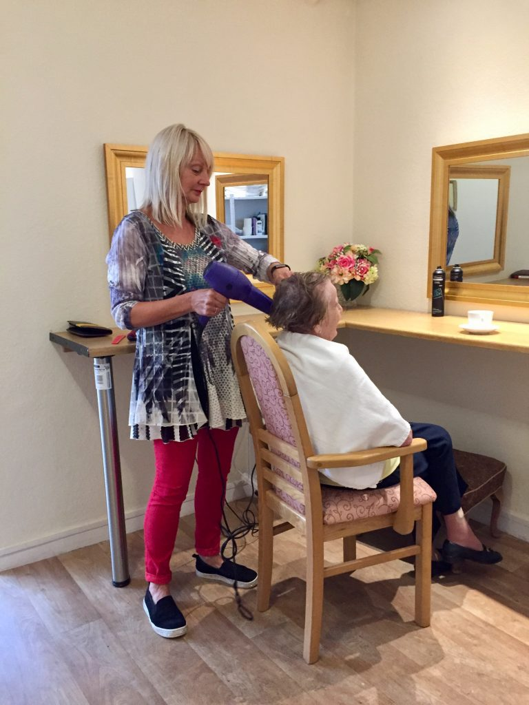 St Mary's Nursing Home on site hairdresser