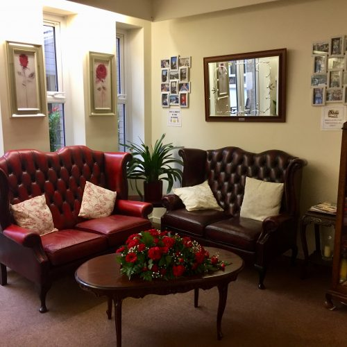 St Mary's Nursing Home Reception Area