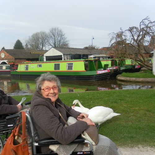 St Mary's Nursing Home residents on a day out to the canal