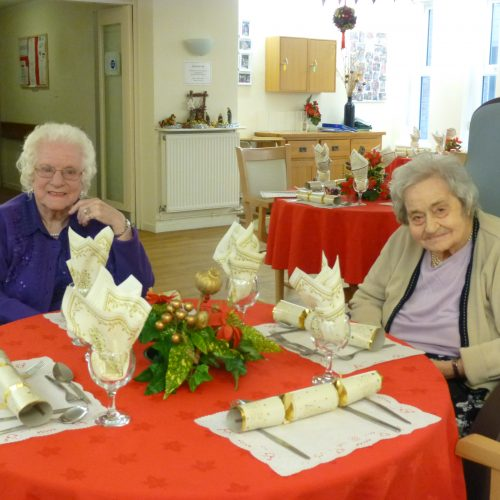 St Mary's Nursing Home residents on Christmas day